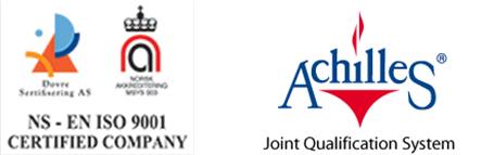 Offshore Industri Service Hydraulikk er sertifisert NS-EN ISO 9001 : 2015 og registrert i Achilles JQS id 25256